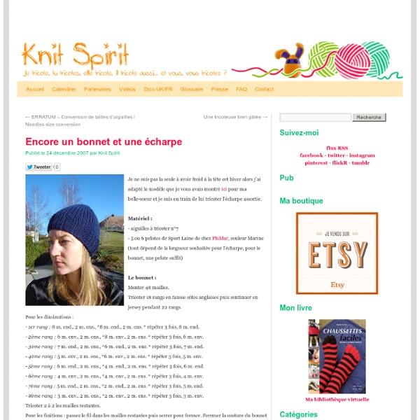 Bonnet et écharpe assortie