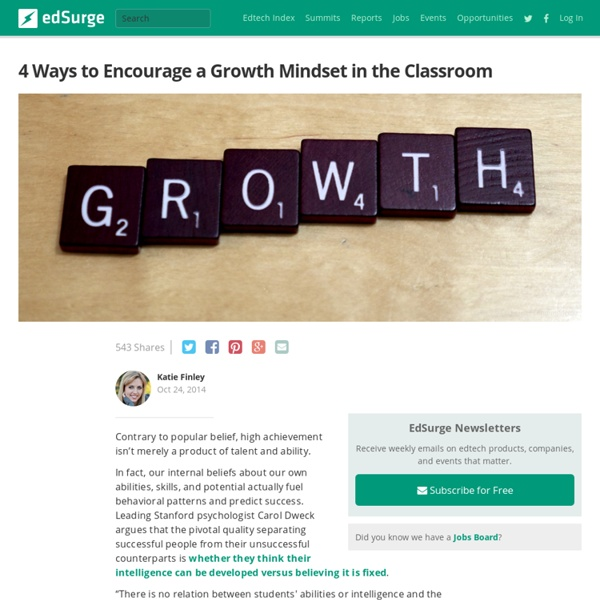 4 Ways to Encourage a Growth Mindset in the Classroom