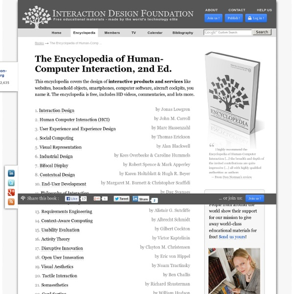 The Encyclopedia of Human-Computer Interaction, 2nd Ed