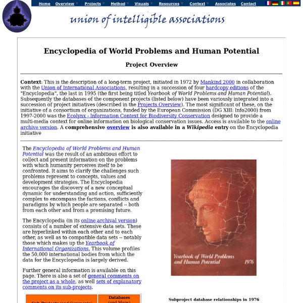 Encyclopedia of World Problems and Human Potential: Project Overview