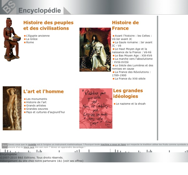 encyclopedie histoire des civilisations
