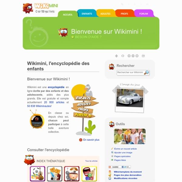 Wikimini - L'encyclopédie pour enfants écrite par les enfants