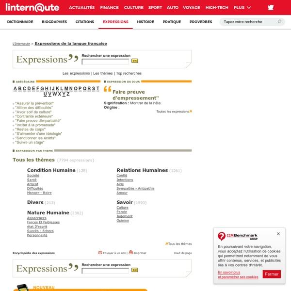 Expression : l'encyclopédie des expressions françaises