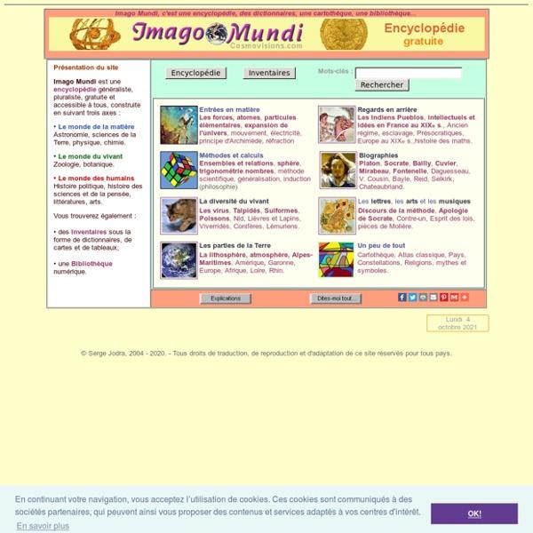 Encyclopédie gratuite Imago Mundi