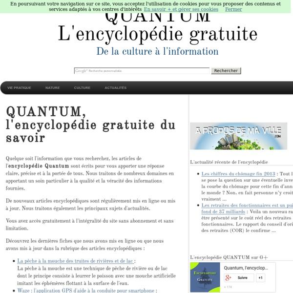 Encyclopédie gratuite Quantum