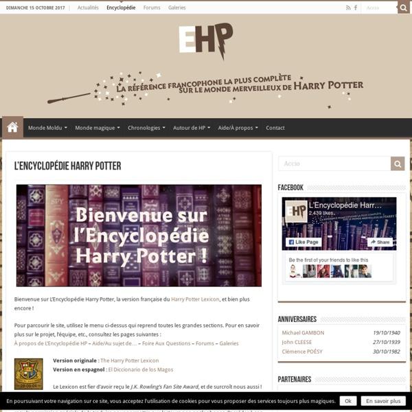 L'Encyclopédie Harry Potter - EHP