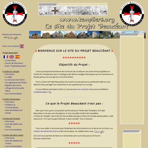 1ère encyclopedie interactive sur l'Ordre des Templiers