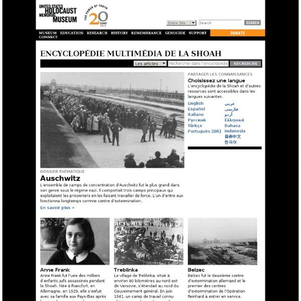Encyclopédie multimédia de la Shoah