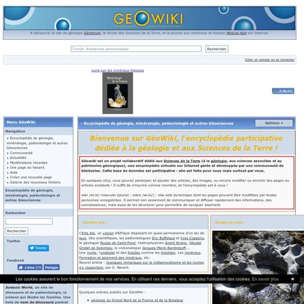 Encyclopédie de géologie, minéralogie, paléontologie et autres Géosciences