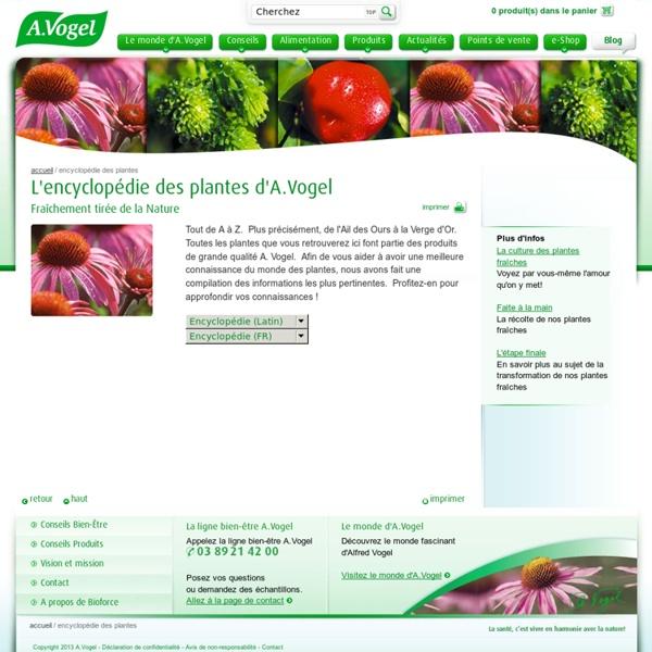 A.Vogel : Encyclopédie des plantes