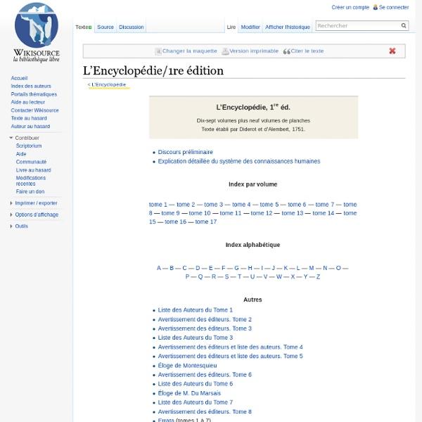 L'Encyclopédie/1re édition