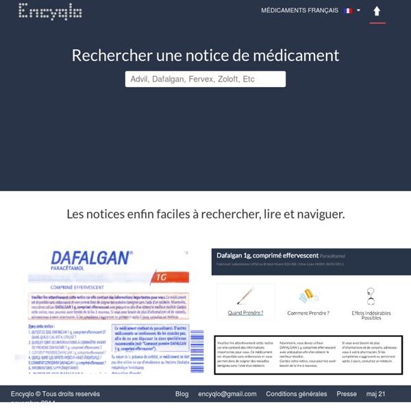 Encyqlo - Les notices de médicaments faciles à lire