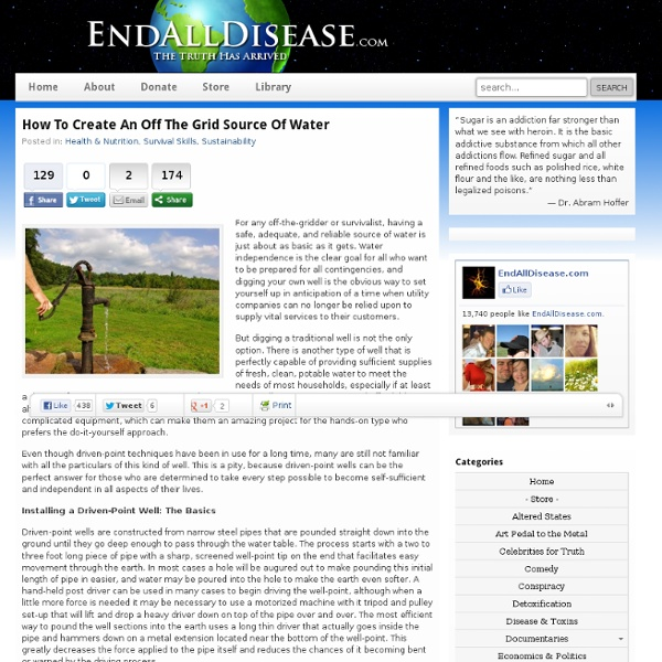 Create An Off The Grid Source Of Water