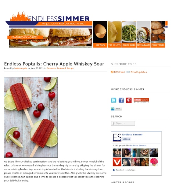Endless Poptails: Cherry Apple Whiskey Sour