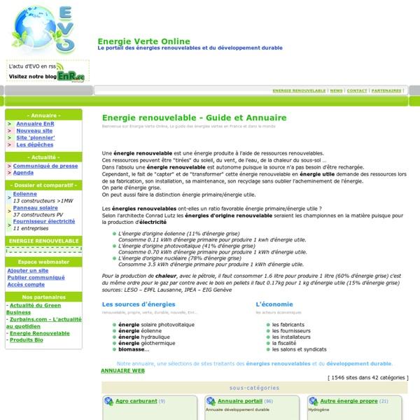 ENERGIE VERTE: énergie renouvelable