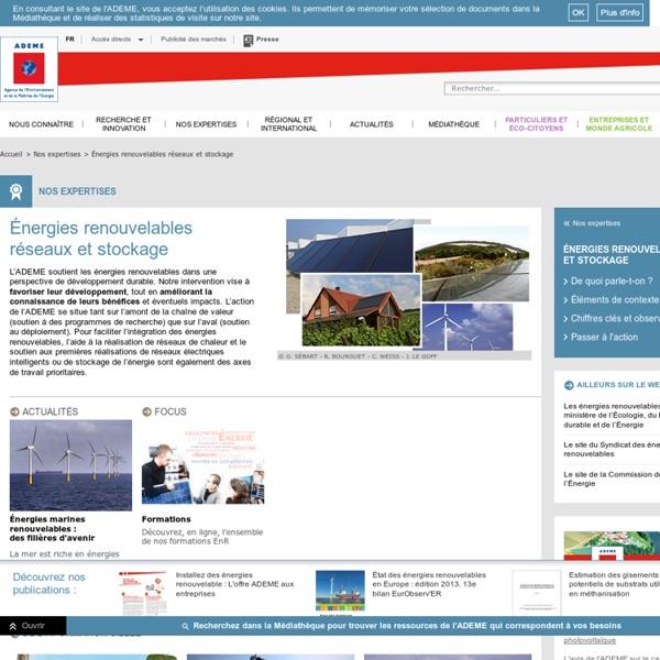 Domaines d'intervention - Energies et matières renouvelables - Accueil
