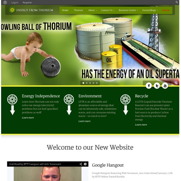 Energy from Thorium