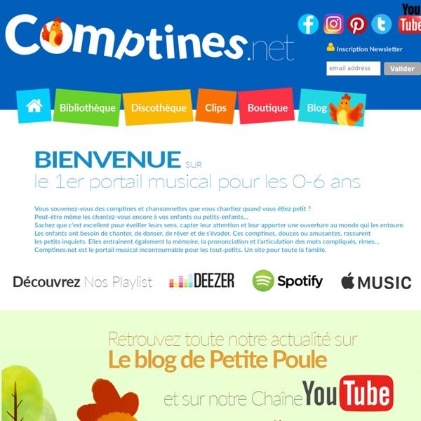 Comptines.net Paroles de Comptines et Berceuses pour enfants et bébés, Musiques enfantines, Jeux, Coloriages