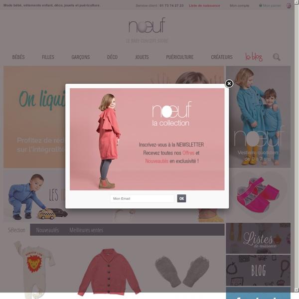 Mode bébé et enfants, cadeaux de naissance : Noeuf.fr