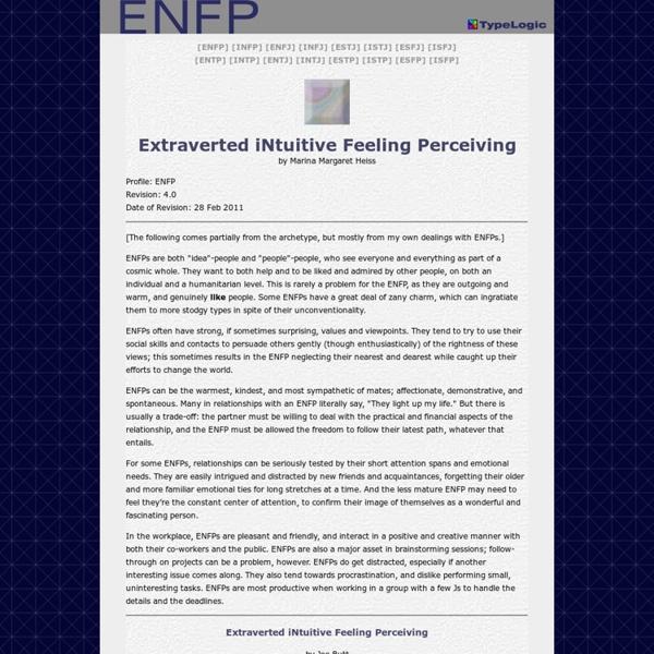 ENFP - ENFJ Relationship