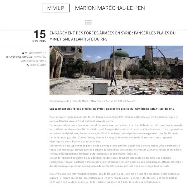 Engagement des forces armées en Syrie : panser les plaies du mimétisme atlantiste du RPS