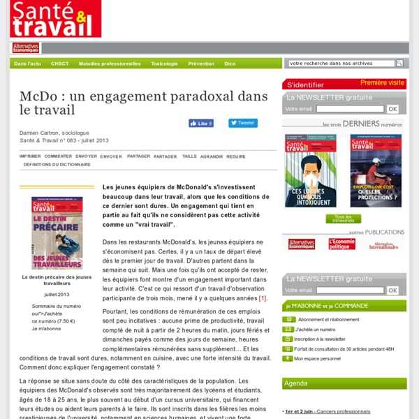 McDo: un engagement paradoxal dans le travail