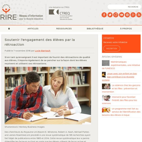 Soutenir l'engagement des élèves par la rétroaction
