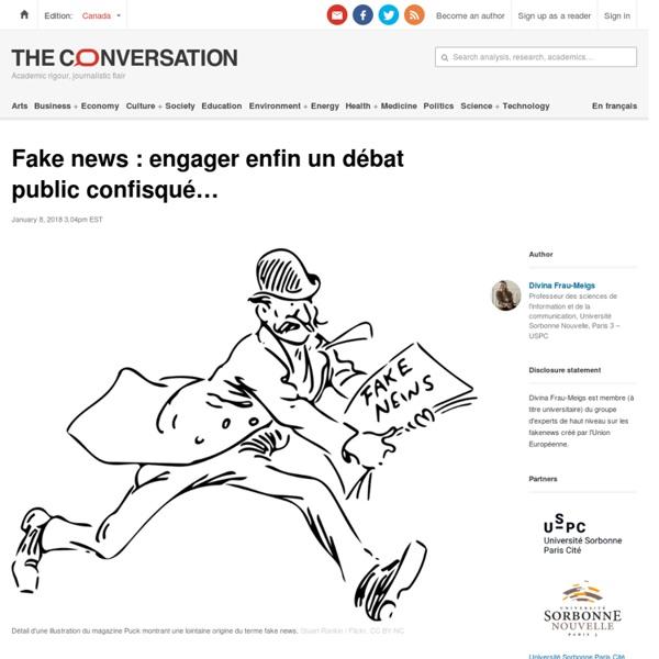 Fake news: engager enfin undébat public confisqué…