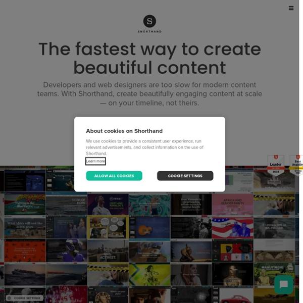 Shorthand — Beautifully simple storytelling
