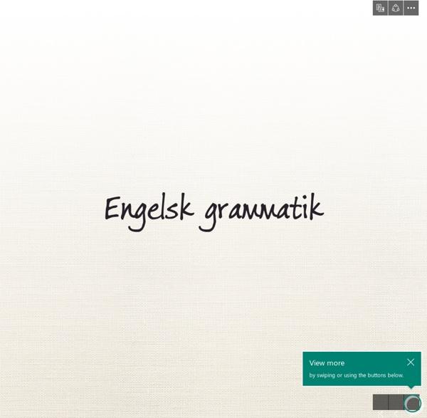 Engelsk grammatik