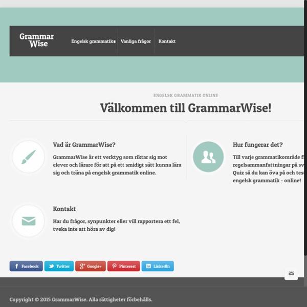 Engelsk grammatik online