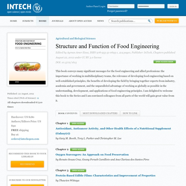 Structure and Function of Food Engineering 22/08/12 Au sommaire: Nucleic Acid-Based Methods to Identify, Detect and Type Pathogenic Bacteria Occurring in Milk and Dairy Products