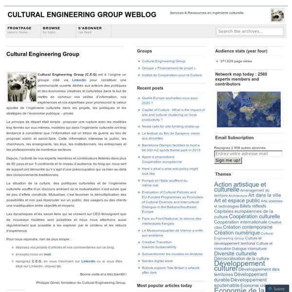 Cultural Engineering Group Weblog