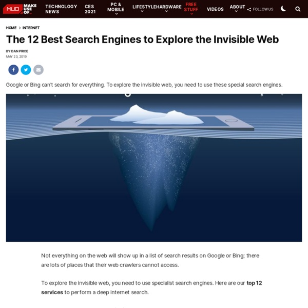 10 Search Engines to Explore the Invisible Web