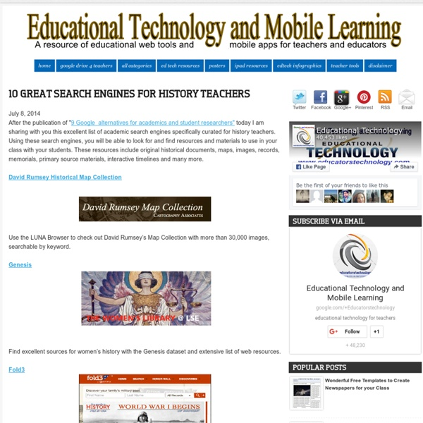 10 Great Search Engines for History Teachers
