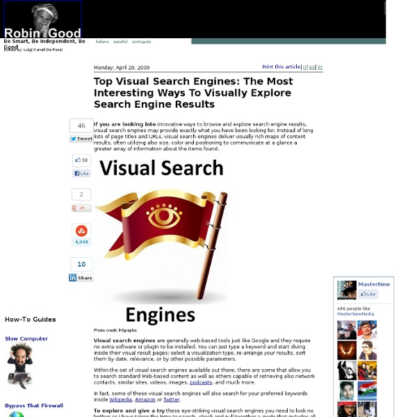 Top Visual Search Engines: The Most Interesting Ways To Visually Explore Search Engine Results
