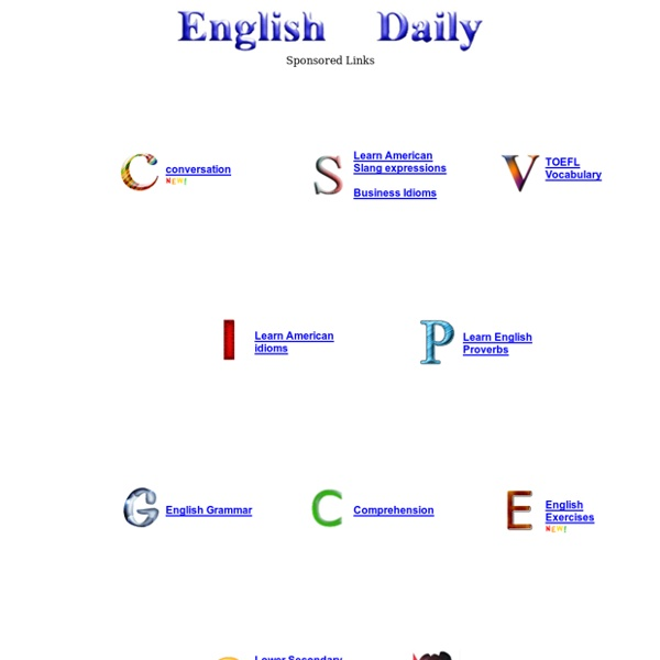 English Daily - Learn American idioms, English conversation