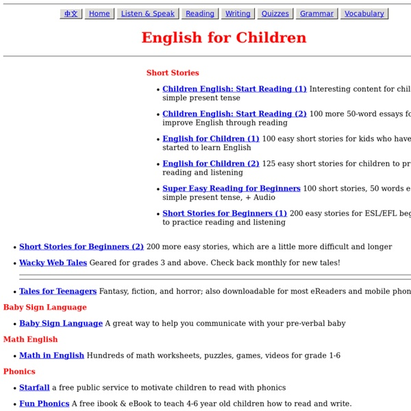 English for Children | Pearltrees