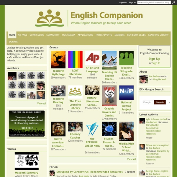 English Companion Ning - Where English teachers go to help each other