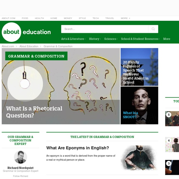 Grammar and Composition - Homepage of About Grammar and Composition