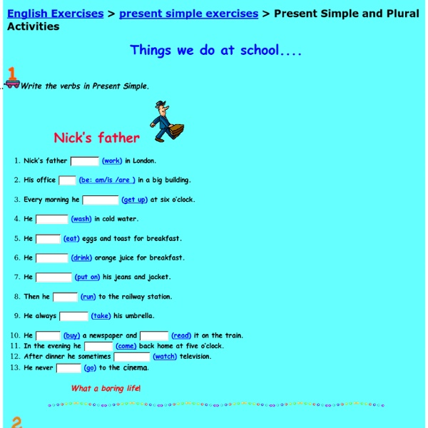 Present Simple and Plural Activities