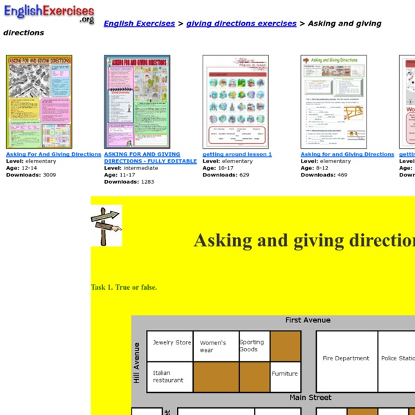 giving directions printable worksheets pdf