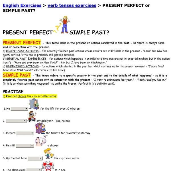 English Exercises Present Simpe: PRESENT PERFECT Or SIMPLE PAST?