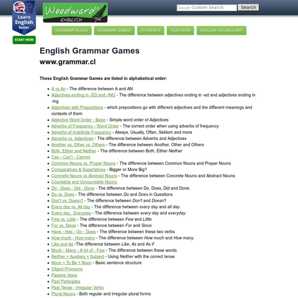 English Grammar Games - Juegos para aprender inglés gratis