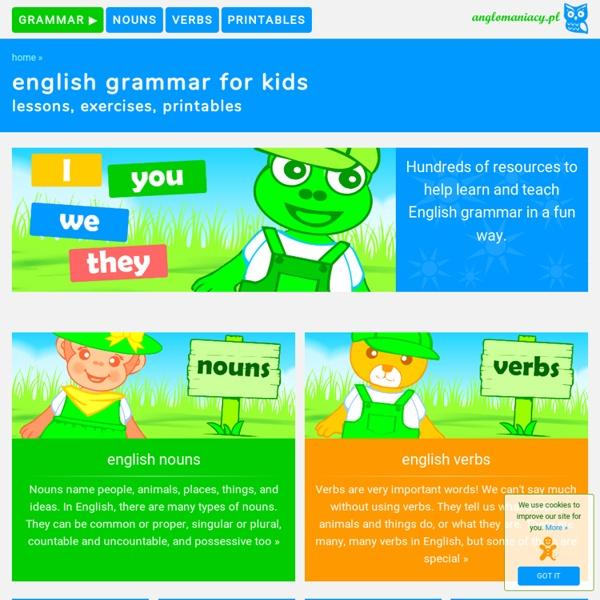 Basic grammar for ESL kids