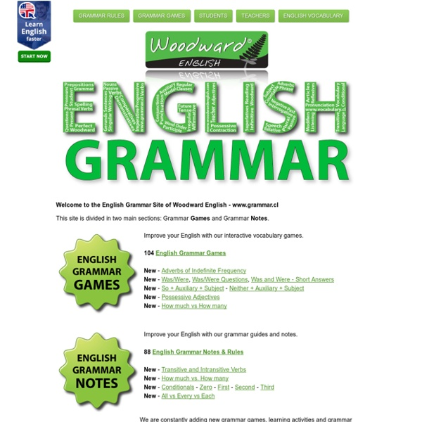 English Grammar Games and Notes - Woodward English