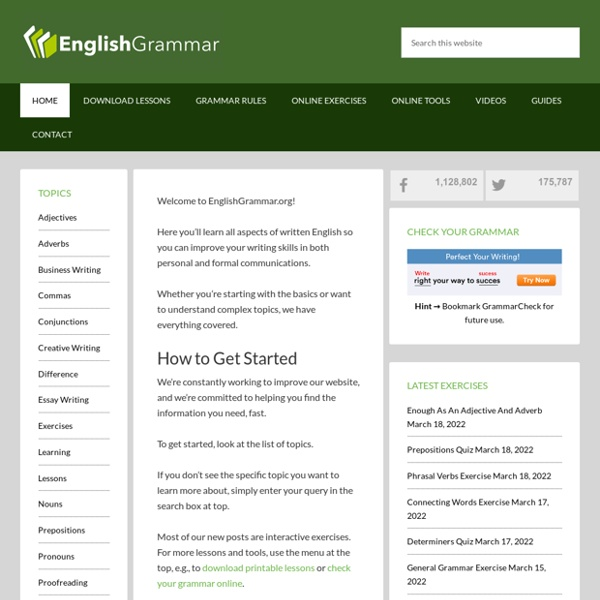 English Grammar – Your guide to error-free writing