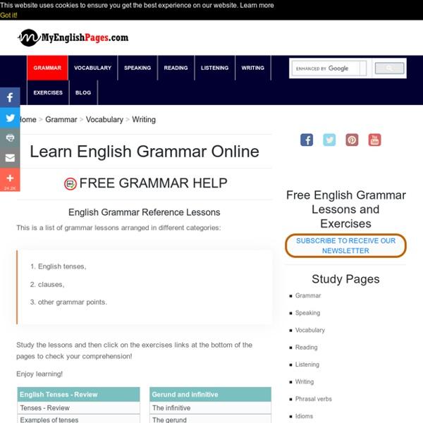 English Grammar Lessons - Learn English Grammar online
