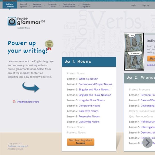 English Grammar 101 - Online Grammar Lessons