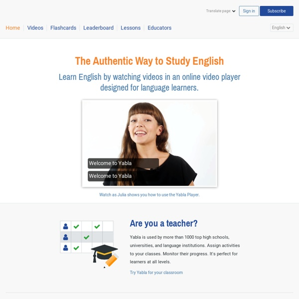 Yabla English Video Immersion - The Authentic Way to Learn English